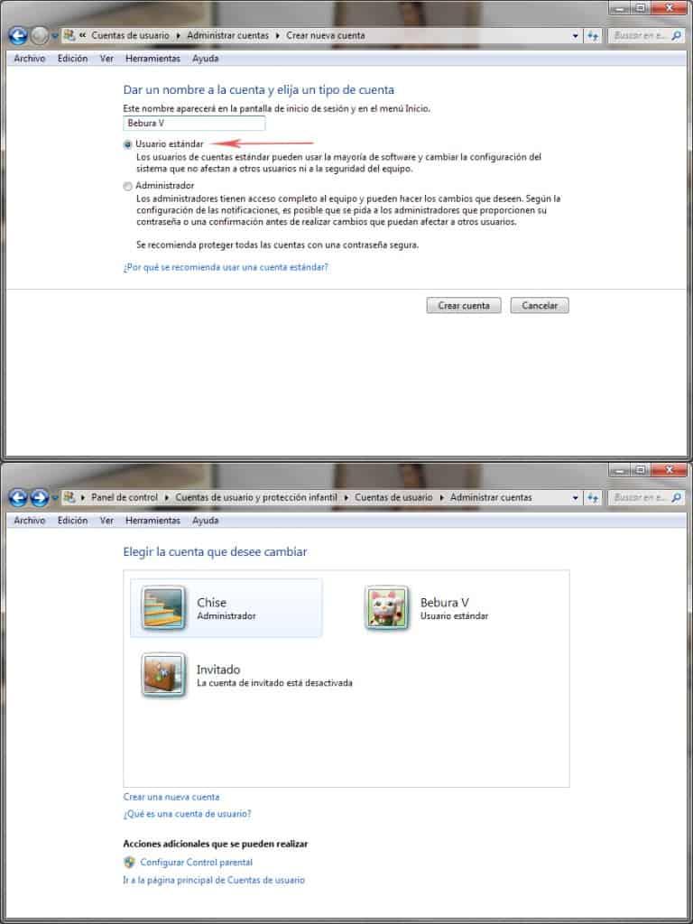 Crear Usuario en Windows