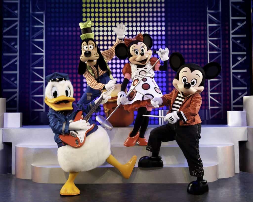 Disney musica festival mickey minni donald goofy