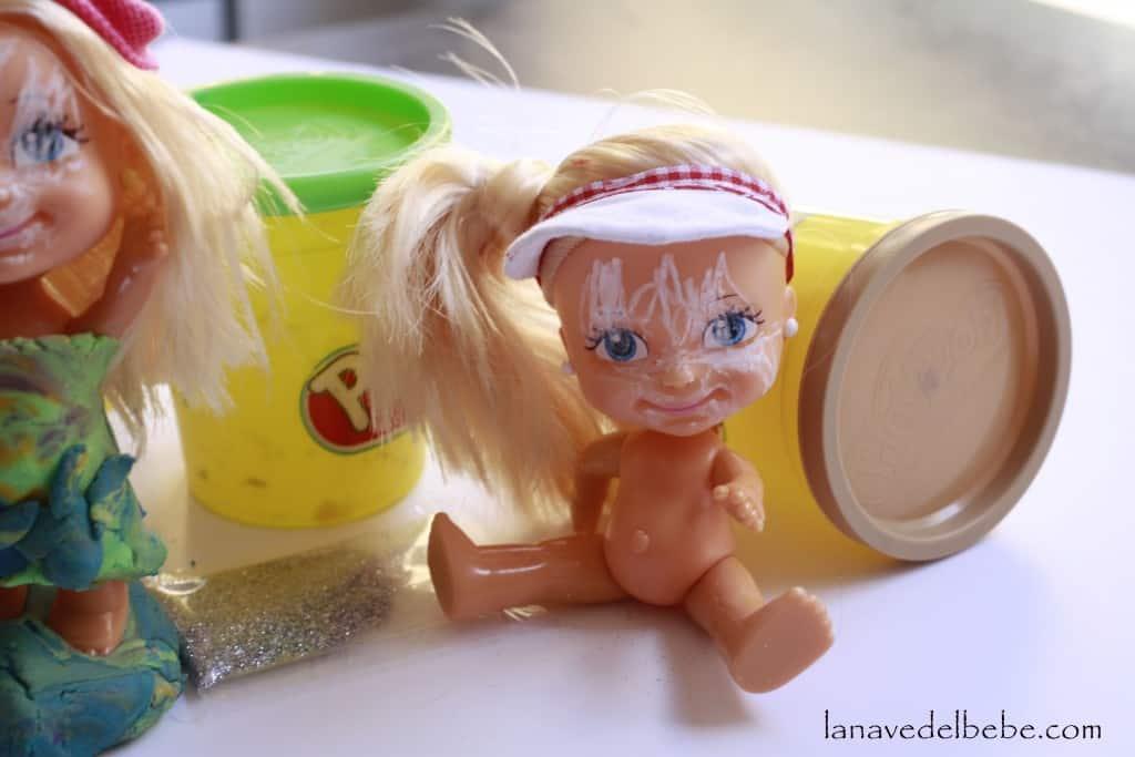 muñecas con play doh