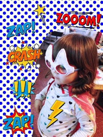 capa para niña superheroe