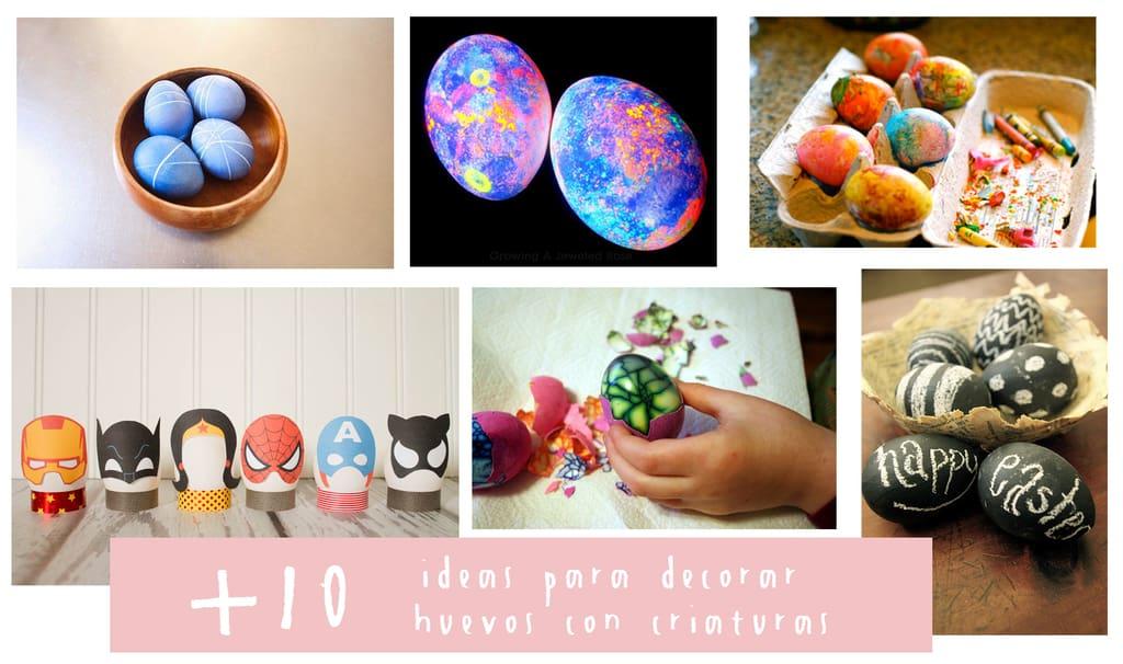 decorar huevos con niños