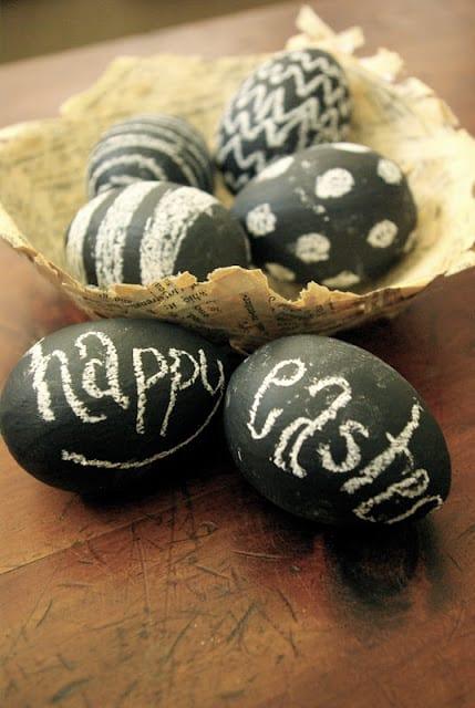 Huevos de chalk paint