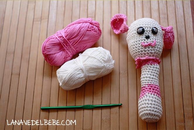 sonajero a crochet fácil