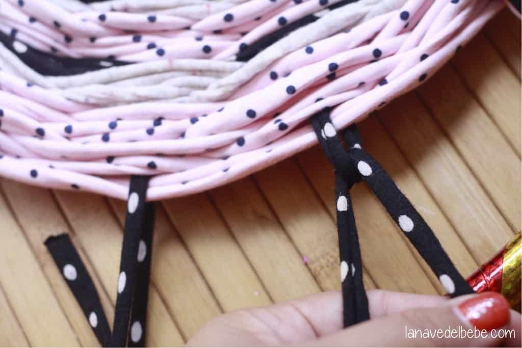 alfombra de trapillo paso a paso