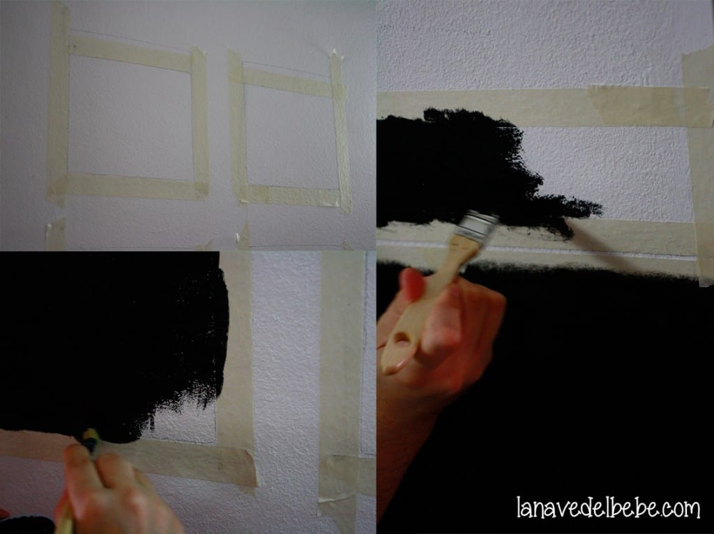 como pintar pared con pizarra