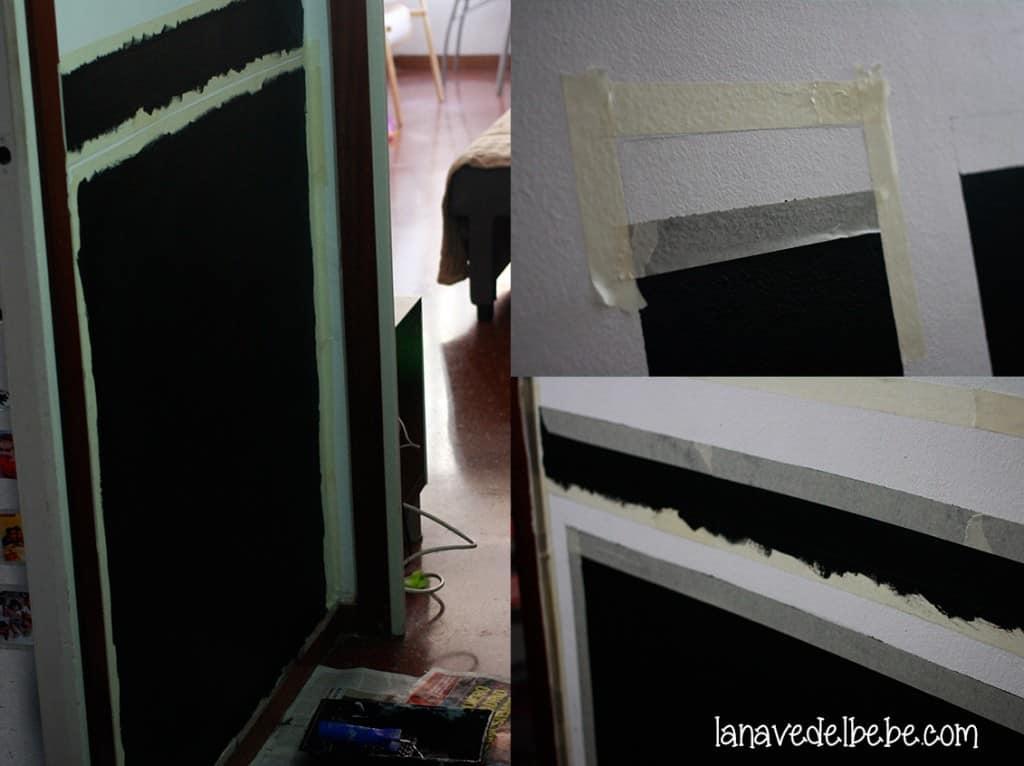 como pintar pared con pizarra 2