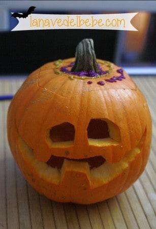 hacer calabaza de halloween con niños 18_2