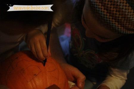 vaciar calabazas de halloween