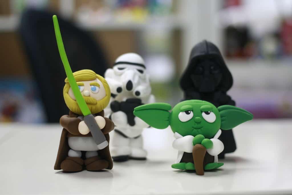 jumping clay Star Wars