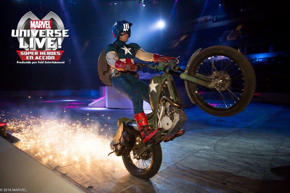 Espectáculo Marvel Barcelona CAPITAN AMERICA