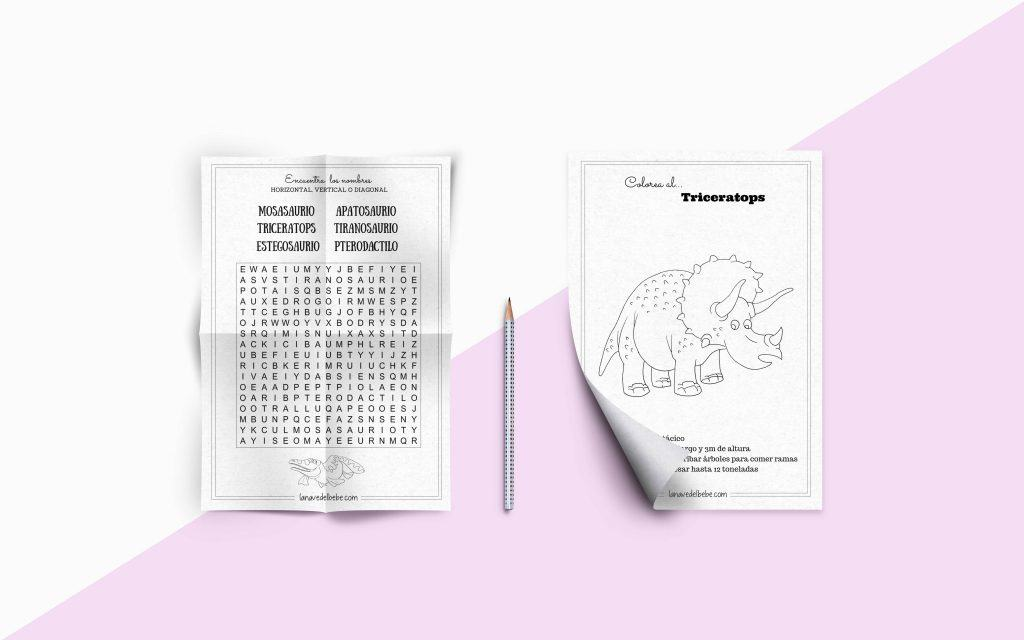 Imprimir fichas proyecto dinosaurios