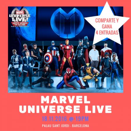 entradas marvel universe live gratis