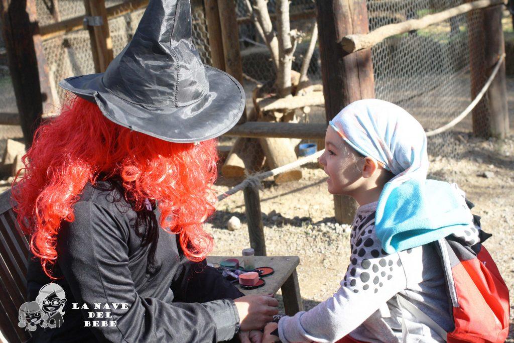 Pintacaras de halloween en granja aventura park