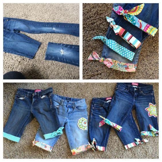 Como hacer vestidos de jeans para ninas