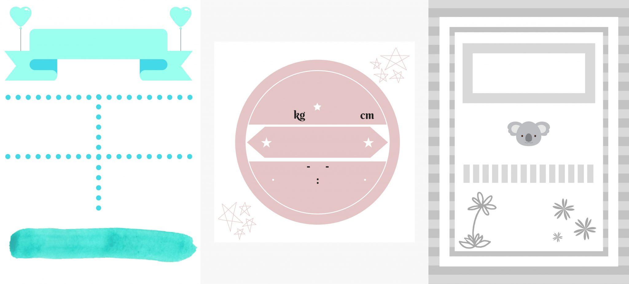 Plantillas de láminas de nacimiento para personalizar gratis