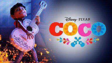 imagen de la pelicula y titulo COCO
