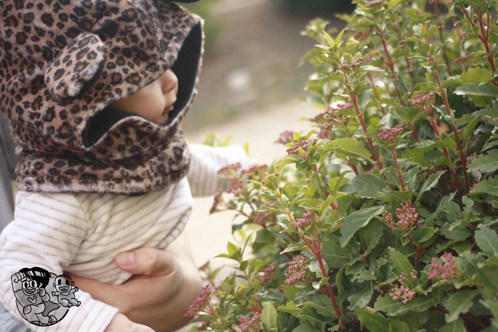 bebé mirando la naturaleza en vilars rurals