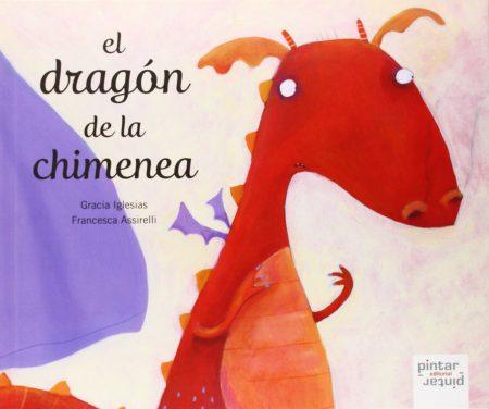 """Portada del cuento """"el dragon de la chimenea"""""""