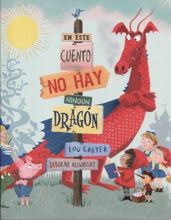 """Portada del cuento """"en este cuento no hay ningún dragón"""""""