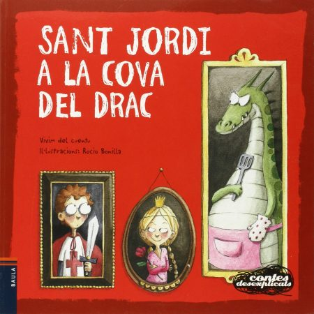 """Portada del cuento """"Sant Jordi a la cova del drac"""""""