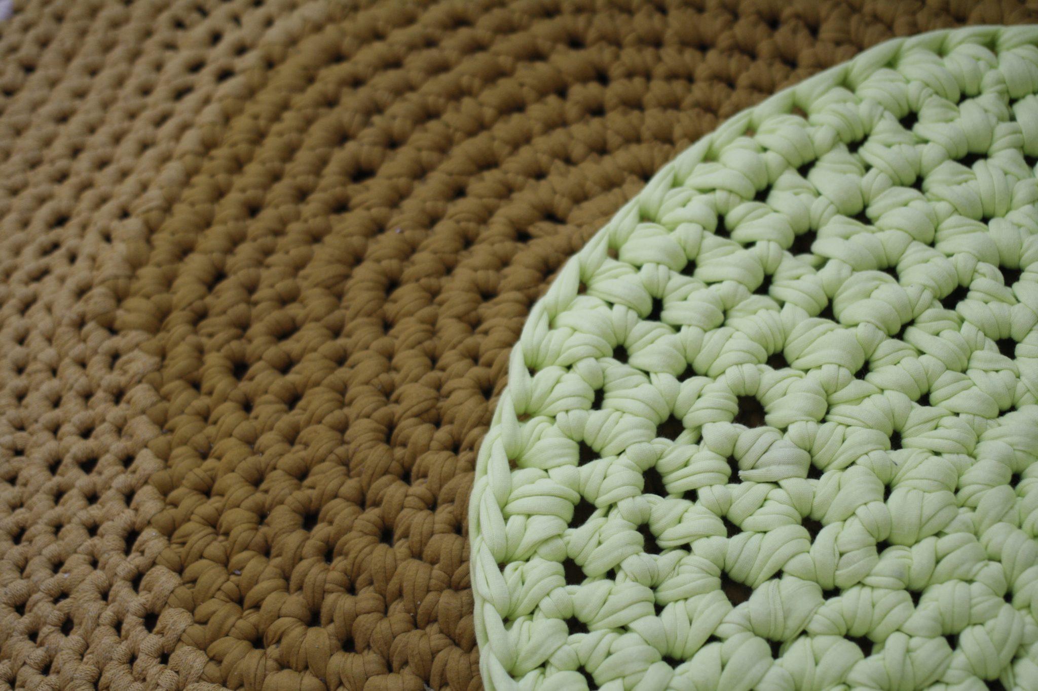 Diferentes puntos para alfombra de trapillo fácil